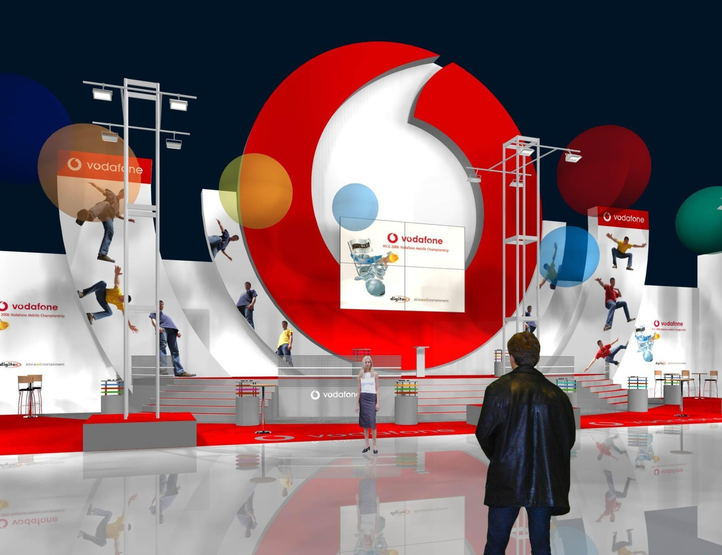 D Virtual Exhibition : Stand with three sides open bvv trade fairs brno