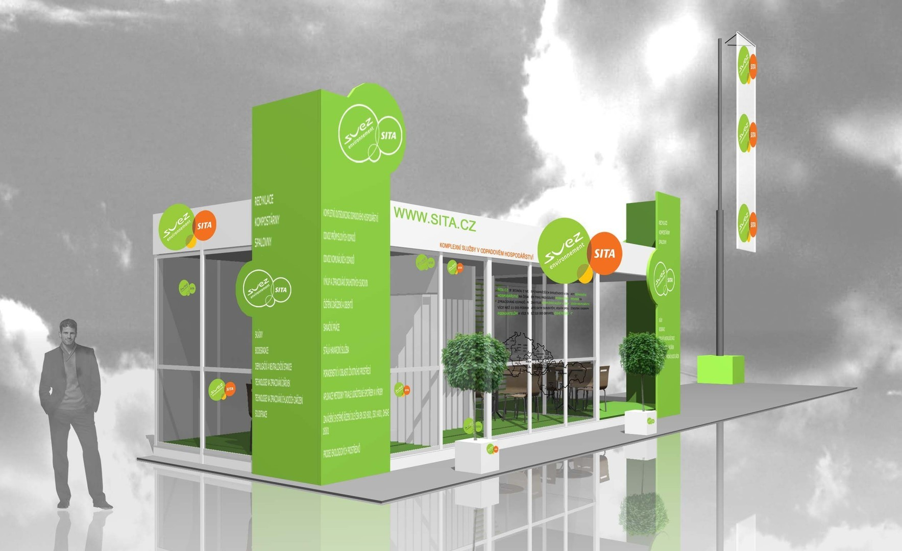 Exhibition Stand Graphic Design : Outdoor exhibition stands bvv trade fairs brno
