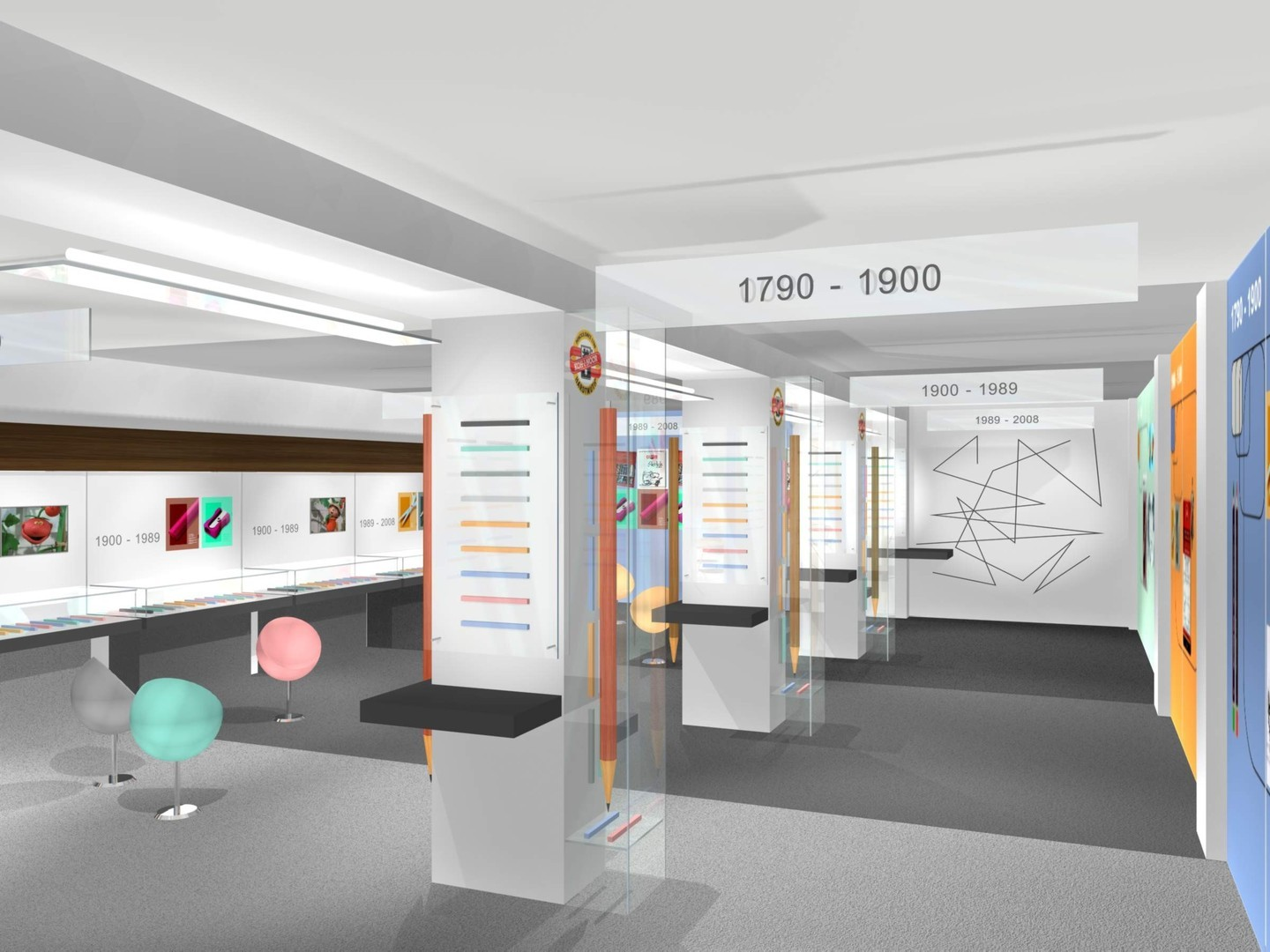 exhibition space design for the company koh i noor